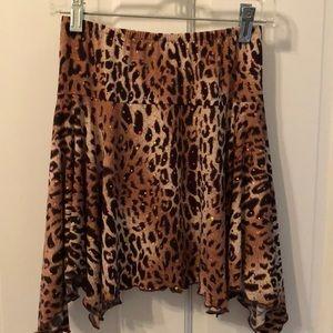 Other - Girls Cheetah print hi-low skirt size 8